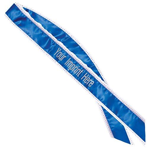 Royal Blue Bling Edge Custom Sash, 4 1/2