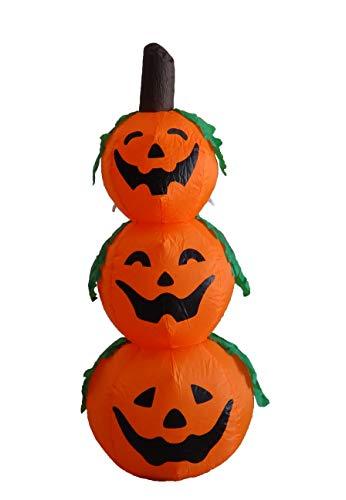 4 Foot Halloween Inflatable 3 Jack-O-Lanterns Yard Art Decoration -