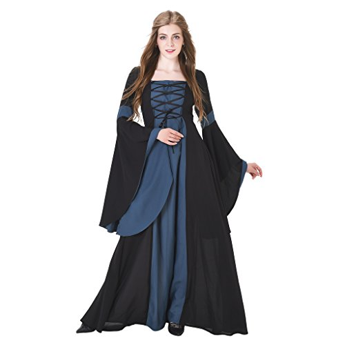 [1791's lady Medieval Renaissance Costume Halloween Costume for Women NQ0024-4-L] (Halloween Costumes 4 Heel)