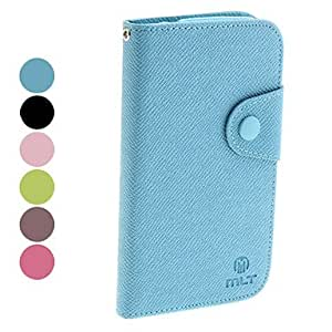 GJY Microgroove Pattern PU Leather Case for Samsung Galaxy Grand DUOS I9082 (Assorted Colors) , Black