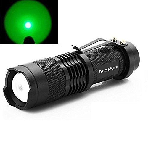 Decaker Single Mode Zoomable LED 100 Yard Green Light Flashlight Torch For Fishing Hunting Detector Review