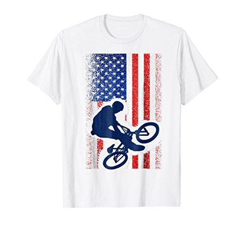 Bmx Kids T-shirt - American Flag Bmx T-Shirt Cool Bicycle Motocross Gift Tee