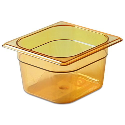 Rubbermaid Commercial Products FG205P00AMBR Hot Food Pan, 1/6 Size, 1 2/3 quart, Amber by Rubbermaid Commercial Products