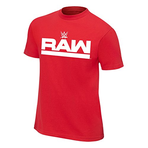 WWE Team Raw T-Shirt Red Large by WWE Authentic Wear