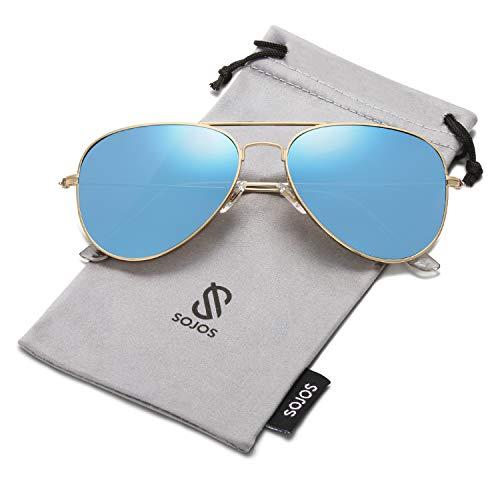 Brand Name Aviator Sunglasses - SOJOS Classic Aviator Polarized Sunglasses Mirrored