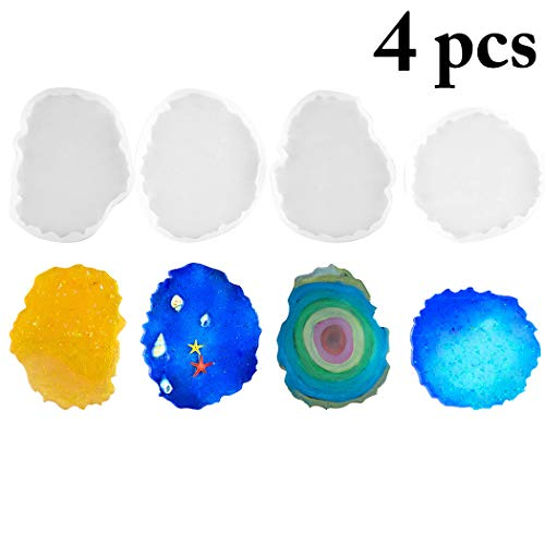 Outgeek 4PCS Resin Casting Mold DIY Silicone Art Mold Resing Art Mold Epoxy Casting Mold Price & Reviews
