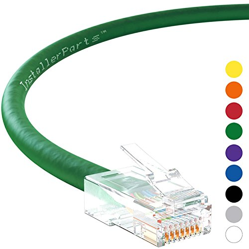 InstallerParts Ethernet Cable CAT5E Cable UTP Non-Booted 20 FT - Green - Professional Series - 1Gigabit/Sec Network/Internet Cable, 350MHZ