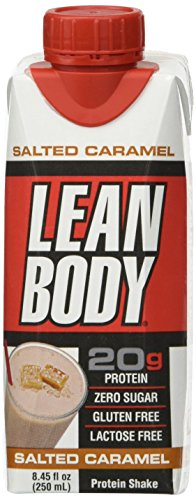 LABRADA - Lean Body Ready To Drink Protein Shake, Convenient On-The-Go Meal Replacement Shake for Men & Women, 20 grams of Protein – Zero Sugar, Lactose & Gluten Free, Salted Caramel (Pack of 12) - Labrada Lean Body Protein Shake