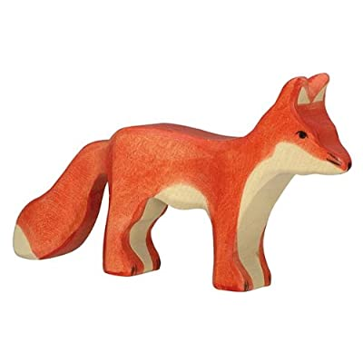 Holztiger Fox Standing Toy Figure: Toys & Games