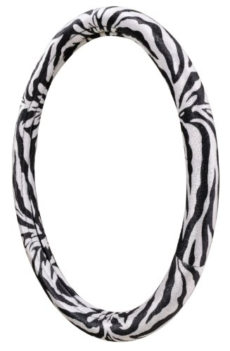 zebra print steering wheel cover - 9