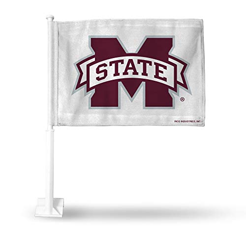 Rico Mississippi State Bulldogs NCAA 11X14 Window Mount 2-Sided Car -