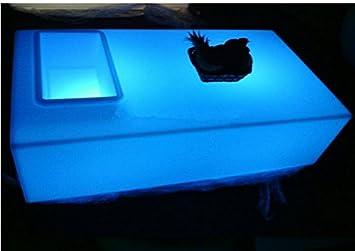GOWE Rectángulo abertura cuadrada mesa de café mesa de luz LED ...
