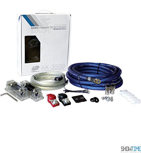 XS Power AK3500 XS FLEX 1/0 AWG 3500W - 4000W Install Kit (with (2) 350A Fuses & (Super High Performance Av Cable)