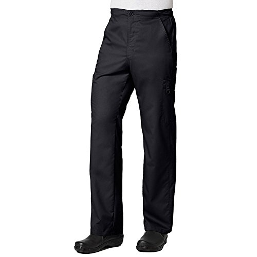 Maevn Uniforms Eon Men's Coolmax Half-Elastic Drawstring Waist Cargo Scrub Pant Medium Black (Cargo Drawstring Uniform)