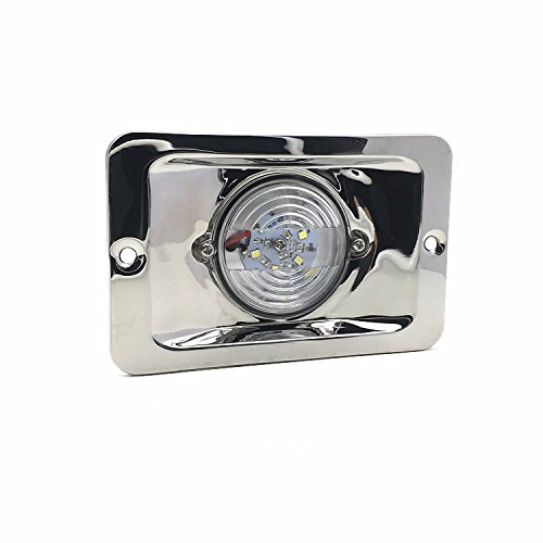 Stern Light Flush (SRXTZM DC12V 2.2W White Led Flush Mount Boat LED Transom Stern Light Marine Navigation Starboard Pontoon Sailing Lights Lamp)