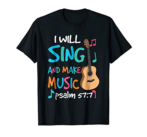 Christian Rock Guitar T-Shirt Religion Church Music Gift