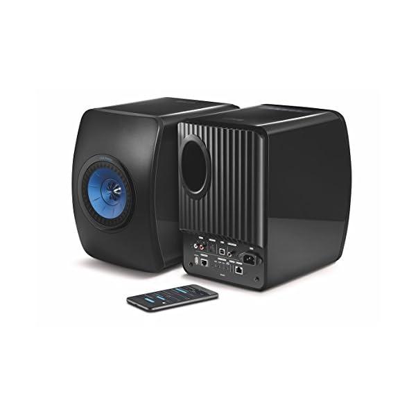 KEF LS50W - SP3903BA - Enceinte sans fil - Enceintes actives | HiFi | Airplay 2 Enceintes | Spotify Connect, TiDAL | LS50 Meilleur système de musique active et système stéréo - Noir/Bleu 2