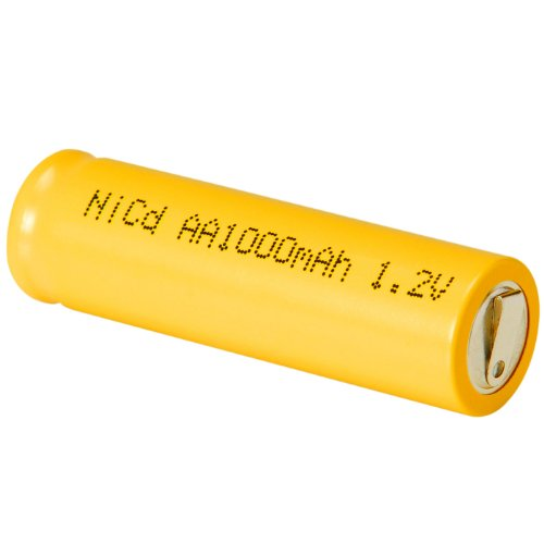 Parts Express AA NiCd Cell Battery with Tabs 1000mAh (Sanyo Batteries Nicad)