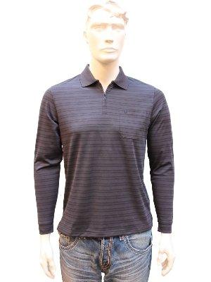 Hombre Trapero Polo-Camiseta de Manga Larga con Cremallera ...