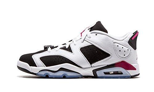 Nike Air Jordan 6 Retro Low Gg, Zapatillas de Running para Niñas Blanco / Morado / Negro (White / Sport Fuchsia-Black)