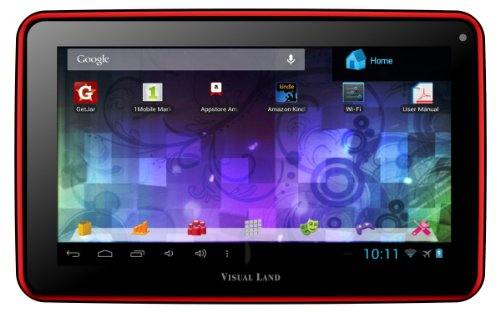 "Visual Land Prestige 7L - 7"" Android Tablet with 8GB Memory (Red)"