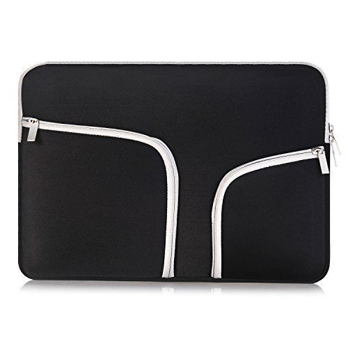 egiant Laptop Sleeve Case 11-11.6 inch, Water-Repellent Protective Chromebook Cases Bag Compatible Mac Air 11/12 Surface Pro 3 4 /Chromebook 11/Stream 11,Computer Notebook Carrying Case-Black by egiant (Image #7)