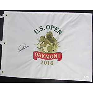 Arnold Palmer RARE Golf Signed 2016 U.S. Open Oakmont Pin Flag JSA 138332