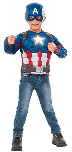 (Imagine by Rubie's Captain America Deluxe Costume Top with Light Up Icon)