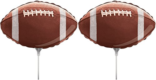 Set of 2 Foil Air Filled Balloons! Helium Free - Sticks and Joiner - Stars - Unique Themes - Party Balloons and Birthday Balloons Perfect for Any Party Decoration! (2ct Football 18