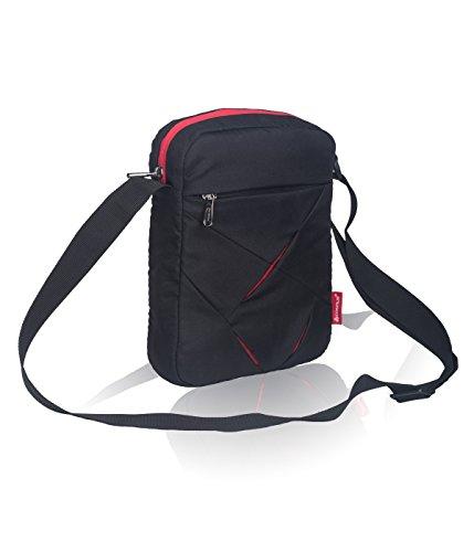 Messenger Sling Bag for Men – Cosmus Index casual Sling bag for 10 inch iPad/Tablet – T.Blue & White