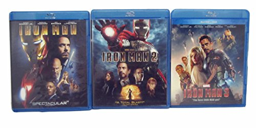 Iron Man Movies 1, 2, and 3 (IronMan 1-3) Featuring Robert Downey Jr. - All 3 Movies