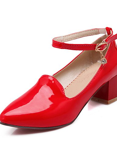 red eu42 us10 Cuero eu42 us10 Rojo Negro mujer 5 5 Zapatos de Tacones Robusto Tac¨®n cn43 ZQ 5 red uk8 Casual Tacones Patentado 5 uk8 Puntiagudos cn43 cn43 uk8 5 Trabajo y Oficina eu42 5 Blanco red us10 q4pTUR7