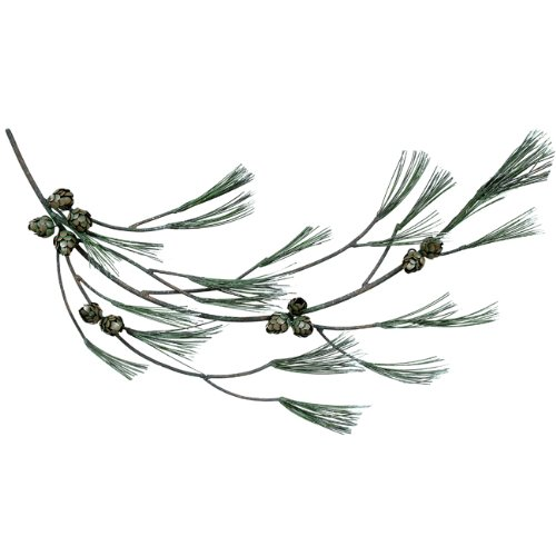 BLACK FOREST DECOR Pine Tree Branch Lodge Wall Hanging
