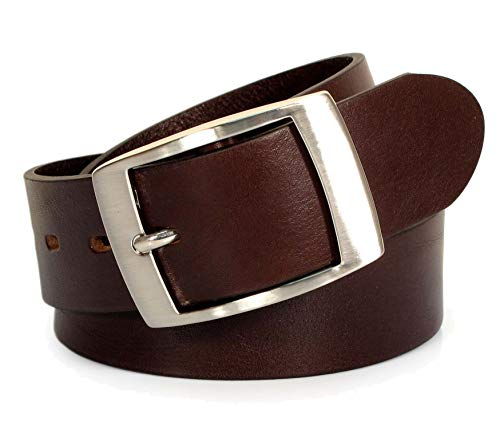 Geniune Leather Belt Black Brown White XL M S Thick Casual Italy Cow 1 1/2