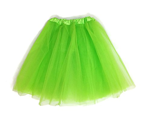 [Rush Dance Women's PLUS SIZE Costume Ballet Warrior Dash Run Tutu (Adult, Lime)] (Plus Size Ballerina Costumes)