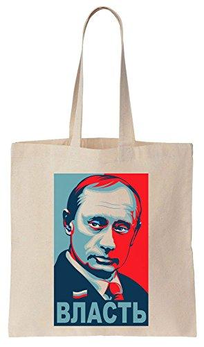 Putin Poster VLAST POWER Sacchetto di cotone tela di canapa