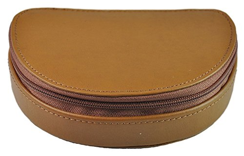 Royce Leather Mini Jewelry Case - Light Tan