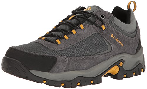 Columbia Men's Granite Ridge Waterproof Hiking Shoe, Dark Grey, Golden Yellow, 10.5 D US
