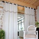 Lovely Casa R61369001 Alphonsine Panneau Oeil Coton Lin 135 x 250 cm