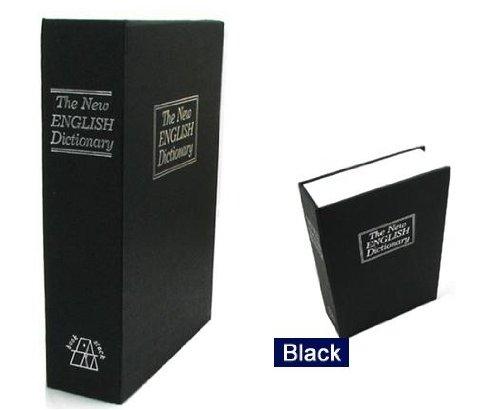 BlueDot Trading Dictionary Secret Book Hidden Safe with Key Lock, Large, Black