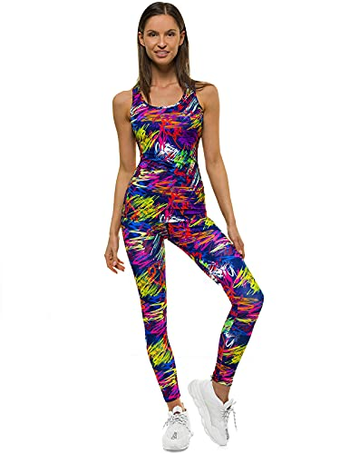 OZONEE O/22117 Tanktop en leggings, joggingpak, trainingspak, sportlegging, sportpak, vrijetijdspak, sportpak, huispak…