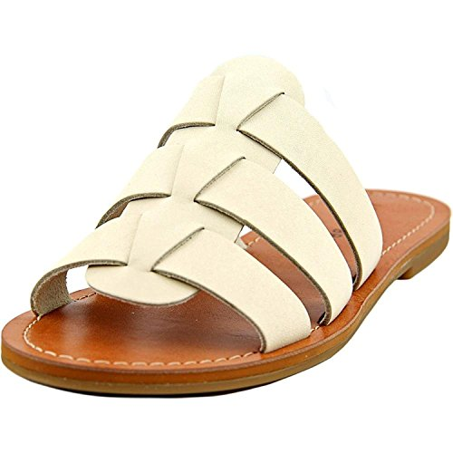 Lucky Brand Womens Aisha Leather Open Toe Casual Slide Sandals