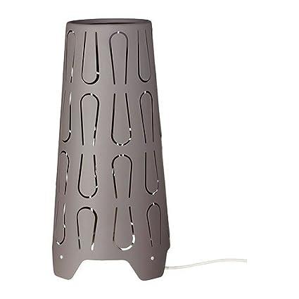 Ikea - Lámpara de mesa kajuta pantalla gris altura 31 cm ...