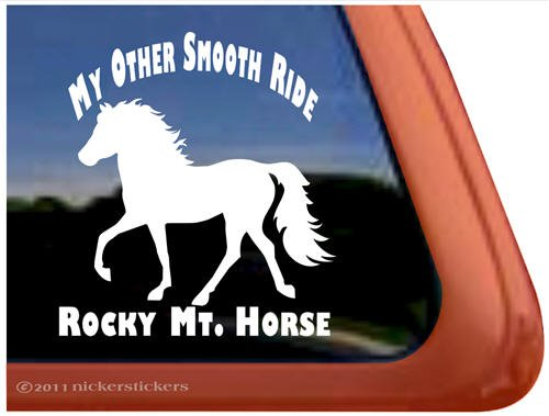 My Other Smooth Ride Rocky Mountain Horse Trailer Vinyl Window Decal Sticker