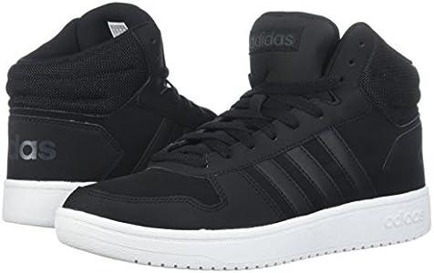 adidas Performance Men's Hoops 2.0 Mid Sneaker, BlackBlack