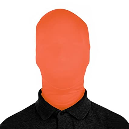 2 Sizes SecondSkin 2Face Solid Spandex Mask Colors//Patterns 15