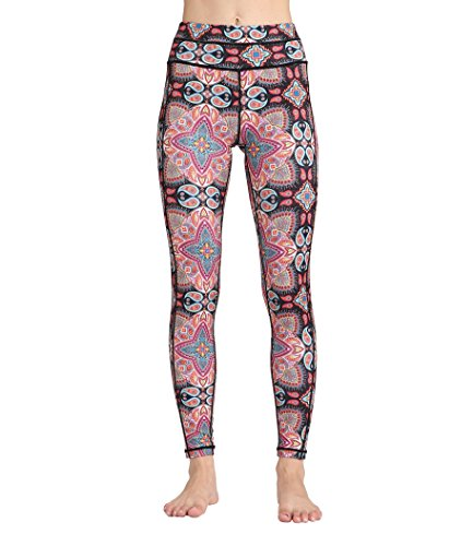 Doris Boutique FU - Hochwertige Mode gedruckte Yoga Workout Stretch Leggings Patterned Hosen