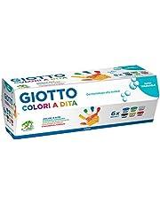 Giotto 534100-6 Barattoli 100 ml Tempera a Dita
