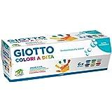 Giotto 534100 - 6 Barattoli 100 ml Tempera a Dita
