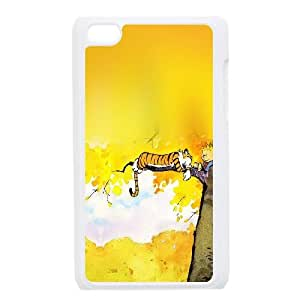 iPod Touch 4 Case White Calvin And Hobbes Nap Illust SLI_659073